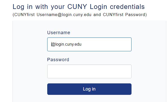 CUNY Portal Login
