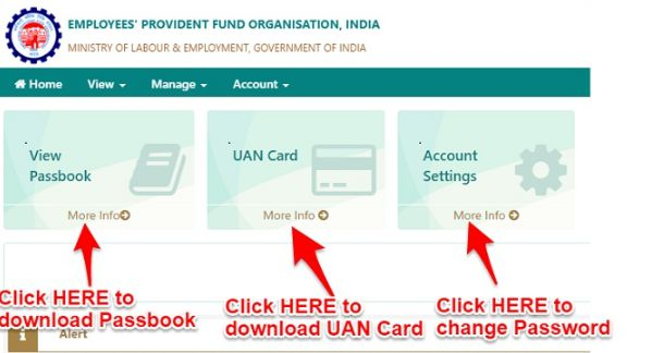 Steps to download the UAN passbook